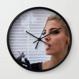 Smoke Wall Clock