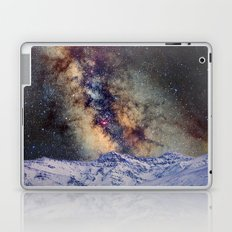 The star Antares, Scorpius and Sagitariuss over the hight mountains. The milky way. Laptop & iPad Skin