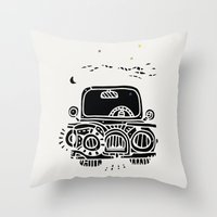 jeep Throw Pillows featuring Jeep by inktheboot