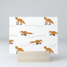 Fox Tracks Mini Art Print