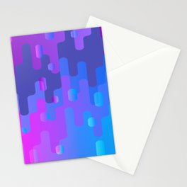Purple Blue And Pink Liquid Type Abstract Design Stationery Cards