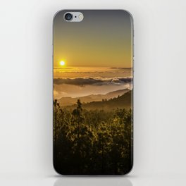 Sunset at 1800m iPhone Skin