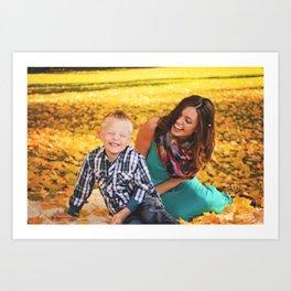 Family Shoot-Bree & Silas3 Art Print