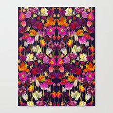 Pink and Orange Tulips Canvas Print