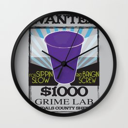Wanted Purple Cup Wall Clock