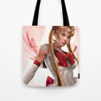 sailor moon Tote Bags featuring Sailor Moon by KlsteeleArt