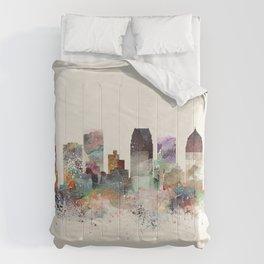 tampa florida skyline Comforters