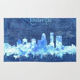 louisville skyline vintage blue Rug