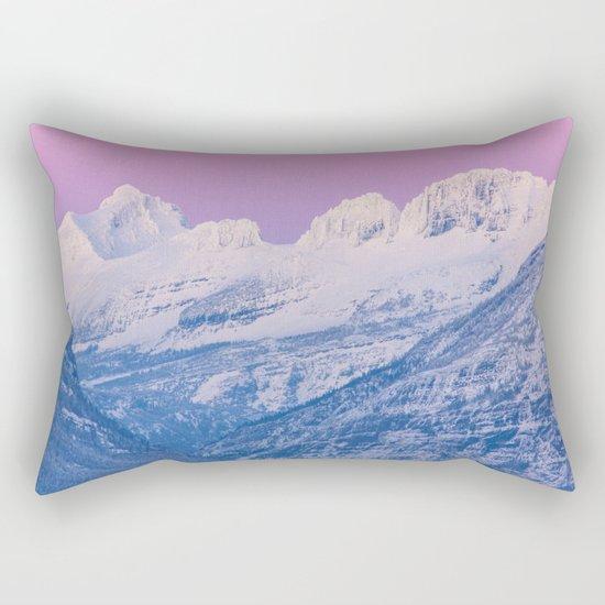 Pink Sunset Mountains Rectangular Pillow