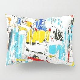 Yellow and Red Öl auf Leinwand Pillow Sham