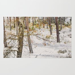 """""""Snow forest"""". Into the woods Rug"""