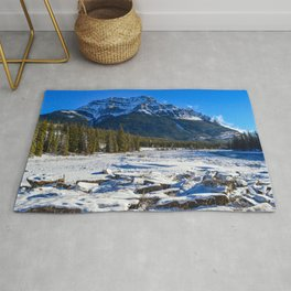 Mount Kerkeslin in Jasper National Park, Alberta Rug