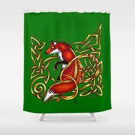 Celtic Fox Shower Curtain