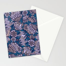 ornemental flowers Stationery Cards