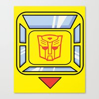 transformers Canvas Prints featuring Transformers - Bumblebee by CaptainLaserBeam