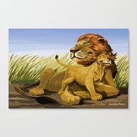 lions Canvas Prints featuring Lions by Jason Bryant Parker