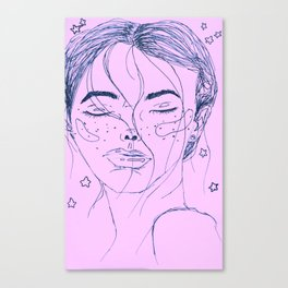 Starry highs - pink / purple Canvas Print