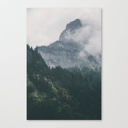 The mountain beyond the forest Canvas Print