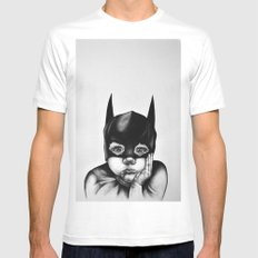 Waiting For a Hero (Bat Boy) Mens Fitted Tee X-LARGE White