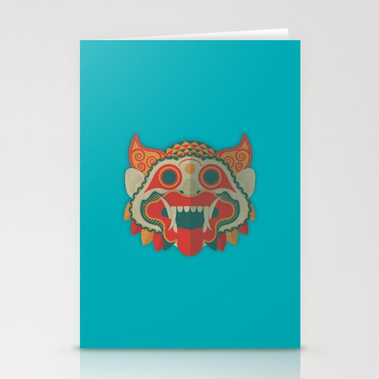 Paper Mask Stationery Cards
