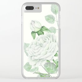 Bouquet Of Pastel Green Roses Clear iPhone Case