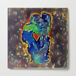 Rock Solid Love Metal Print