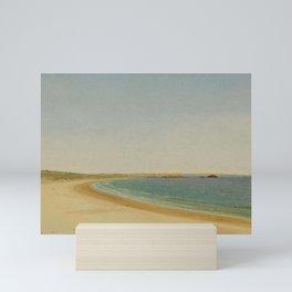 Second Beach, Newport - Middletown, Coastal Rhode Island nautical landscape painting by John Frederick Kensett Mini Art Print