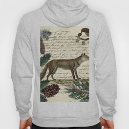 western country fairy rustic woodland nursery winter pine forest animal fox Hoody