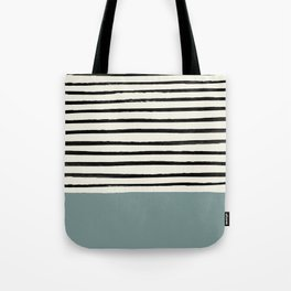 River Stone & Stripes Tote Bag