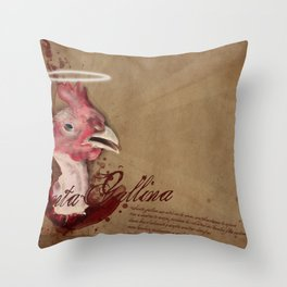 where are the chicken wings? Throw Pillow