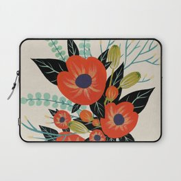 Red Poppies - Ivory Laptop Sleeve