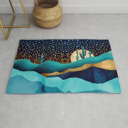 Indigo Desert Night Rug