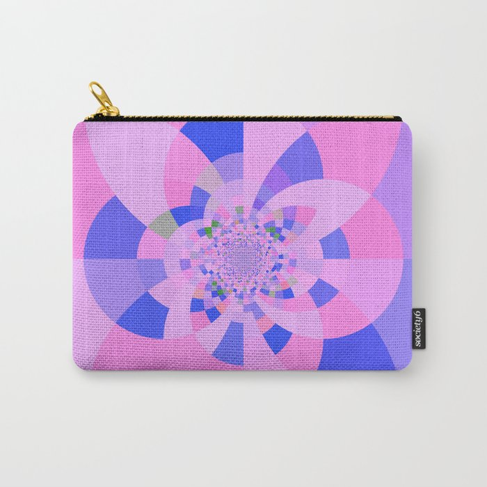 Lavender Purple Blue Kaleidoscope Carry-All Pouch