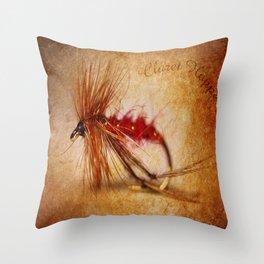 Claret Hopper Throw Pillow
