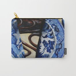 Brownie Cheesecake on Blue Willow Plate Carry-All Pouch