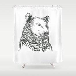 Bear Illustration Shower Curtain