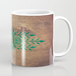 emerald green rustic mandala Coffee Mug