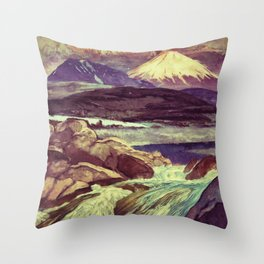 The Rising Fall Throw Pillow