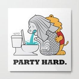 Party Hard Metal Print