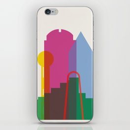 Shapes of Dallas. Accurate to scale. iPhone Skin