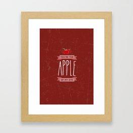Apple of my eye Framed Art Print