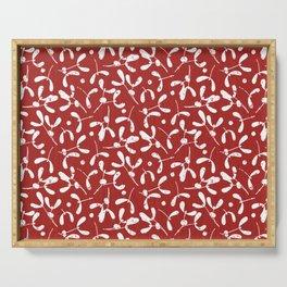 Rustic Mistletoe - Red Serving Tray