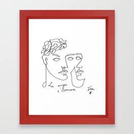 Jean Cocteau Homme  Framed Art Print