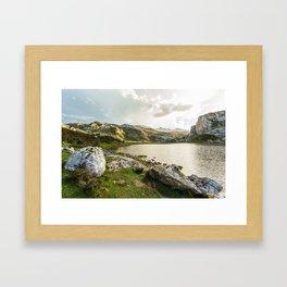 Lake Ercina Framed Art Print