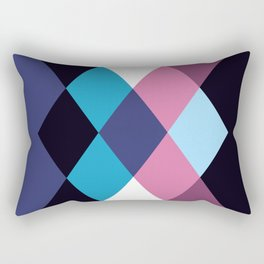 Geometric Pattern 29 (pink blue diamonds) Rectangular Pillow