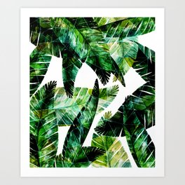 Green leaves of a banana. 2 Art Print