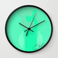 elvis Wall Clocks featuring Elvis by Pahito