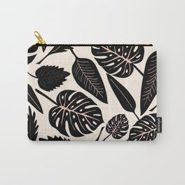 Monstera pattern in black and pastel Carry-All Pouch
