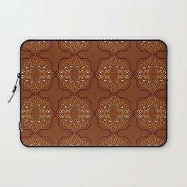 Luxury ornaments vint. Brown Eco Laptop Sleeve