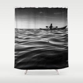 Kayaking on the open sea Shower Curtain